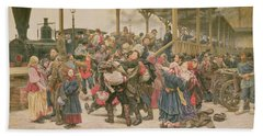 Departing For The War, 1888 Bath Towel