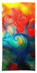 Bath Towel featuring the painting Depths Of His Love by Hazel Holland