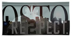 Derek Jeter - Boston Hand Towel by Joann Vitali