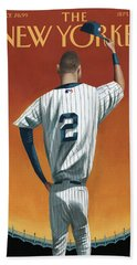 Derek Jeter Bows Out Hand Towel