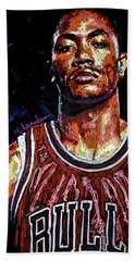 Derrick Rose-2 Bath Towel by Maria Arango