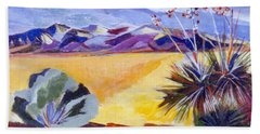 Desert And Mountains Hand Towel