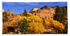 Hand Towel featuring the photograph Desert Autumn by Greg Norrell