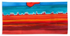 Desert Cities Original Painting Sold Hand Towel