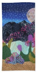 Hand Towel featuring the tapestry - textile Desert Dreaming by Ellen Levinson