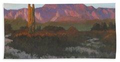 Desert Sunset Glow - Art By Bill Tomsa Hand Towel
