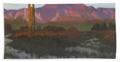 Desert Sunset Glow Bath Towel