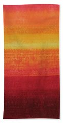 Desert Horizon Original Painting Bath Towel