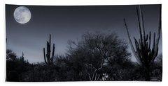 Desert Moon Hand Towel by Bob Hislop
