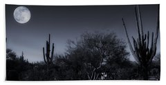 Desert Moon Bath Towel by Bob Hislop