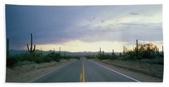 Desert Road Near Tucson Arizona Usa Bath Towel