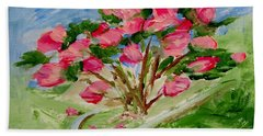 Desert Rose Abstract Bath Towel by Jamie Frier