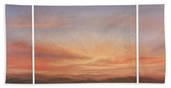 Desert Sky Triptych Bath Towel