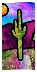 Desert Stained Glass Hand Towel