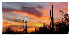 Desert Sunset Hand Towel by Joseph Baril