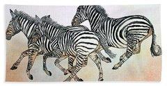 Desert Zebras Bath Towel