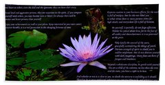 Desiderata 2 Hand Towel by Greg Norrell