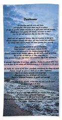Bath Towel featuring the photograph Desiderata Wisdom by Dale Kincaid