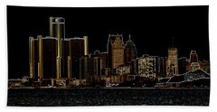 Detroit Skyline Bath Towel