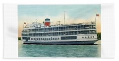Detroit - Ss Sainte Claire - Boblo - Browning Steamship - 1938 Hand Towel