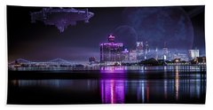 Hand Towel featuring the photograph Detroit Worlds by Nicholas  Grunas