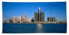 Detroit,michigan Skyline Bath Towel