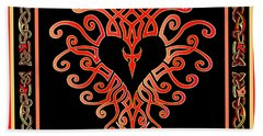 Bath Towel featuring the digital art Devil's Heart by Vagabond Folk Art - Virginia Vivier
