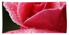 Dew Drops On Pink Bath Towel