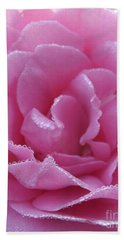 Dew Kissed Rose Bath Towel