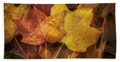 Dew On Autumn Leaves Bath Towel