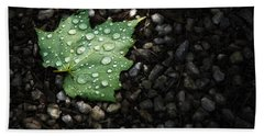 Dew On Leaf Bath Towel