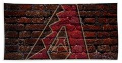 Diamondbacks Baseball Graffiti On Brick  Hand Towel by Movie Poster Prints