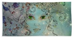 Hand Towel featuring the digital art Different Being by Barbara Orenya