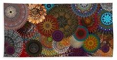 Digital Flowers 001 Hand Towel by Stuart Turnbull