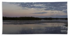 Hand Towel featuring the photograph Ding Darling And Moon - 16x42 by J L Woody Wooden