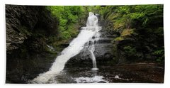 Bath Towel featuring the photograph Dingmans Falls by Trina  Ansel