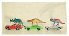Dinosaurs Ride Cars Hand Towel