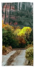 Dirt Road In Canyon De Chelly National Bath Towel