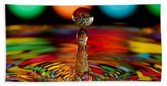 Disco Ball Drop Hand Towel by Anthony Sacco