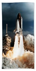 Discovery Hubble Launch Sts-31 Bath Towel