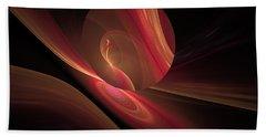 Bath Towel featuring the digital art Disk Swirls by GJ Blackman