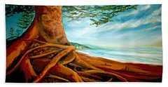 Hand Towel featuring the painting Distant Shores Rejoice by Meaghan Troup