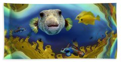 Diver's Perspective Bath Towel
