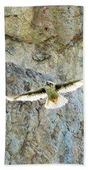 Diving Falcon Bath Towel