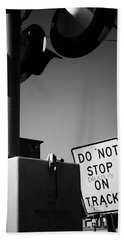 Do Not Stop Dancing On Tracks Bath Towel by Jason Politte