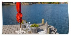 Dock By The Bay Hand Towel by William Norton