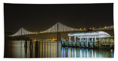 Docks And Bay Lights Hand Towel