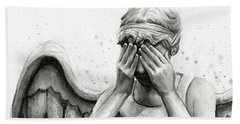 Doctor Who Weeping Angel Don't Blink Bath Towel