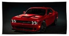 Dodge Challenger S R T Hellcat Bath Towel
