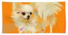 Dog Chihuahua Orange Hand Towel